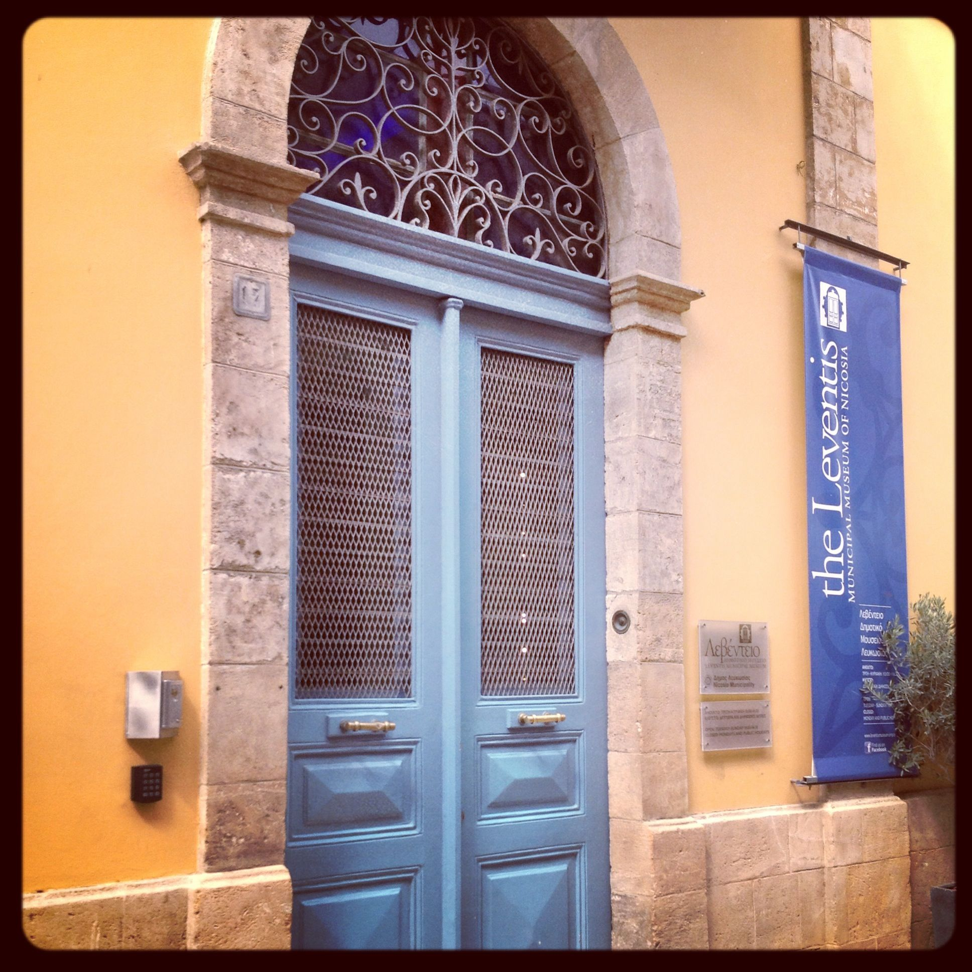 Blue door nicosia Cyprus