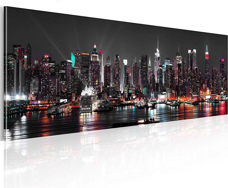 Murando Acrylglasbild New York 120x40 Cm Glasbilder Wandbilder Xxl Wandbild Bilder Skyline Turposter Wandbilder Xxl Bilder