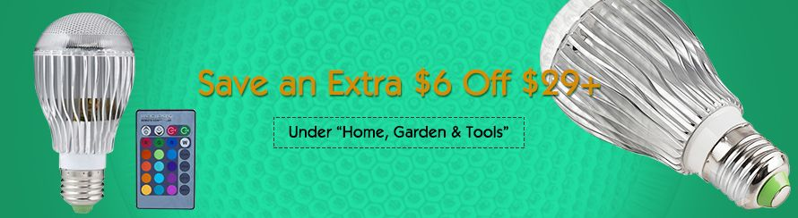 "Save an Extra $6 Off $29+ ,Under ""Home, Garden & Tools"""