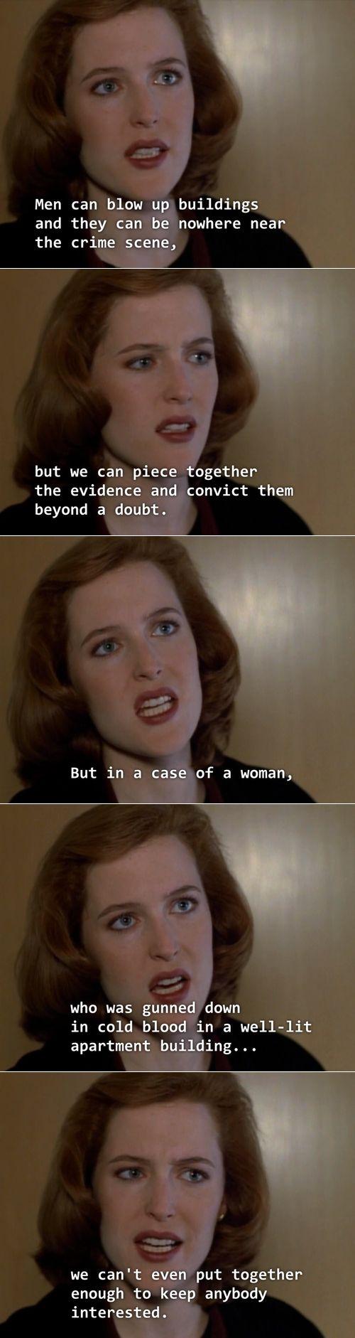 True Story X Files Dana Scully Feminism