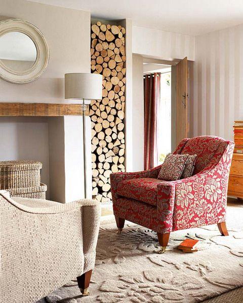 rustikale wohnzimmer design ideen - klassischer sessel | haus ...