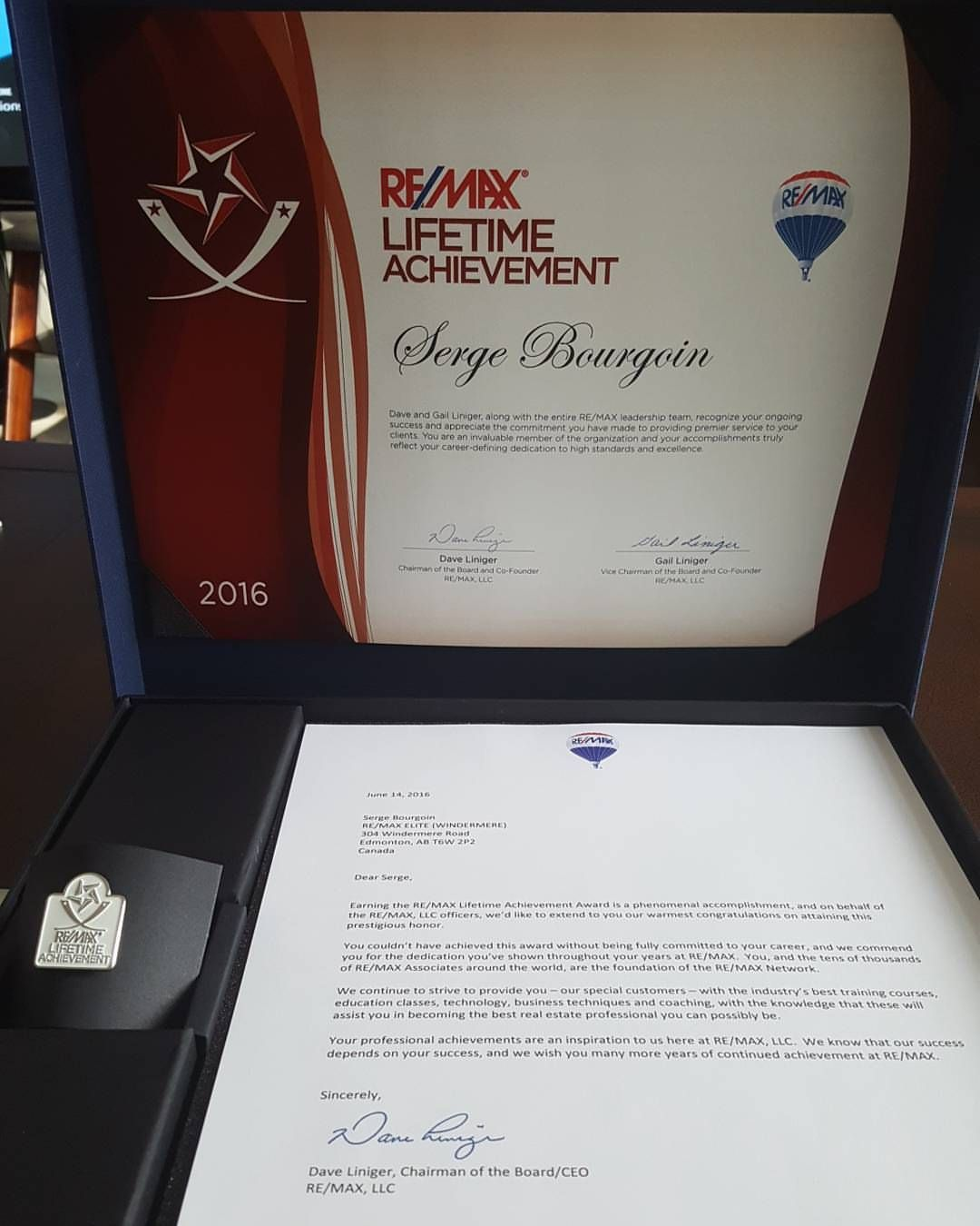 edmonton realtor remax lifetime achievement award