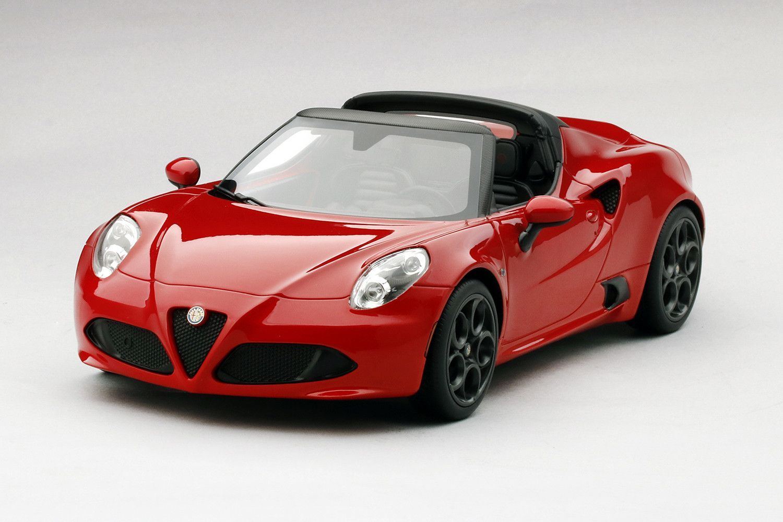 2015 Alfa Romeo 4c Spider Rosso 118 Scale Resin Closed Body Model