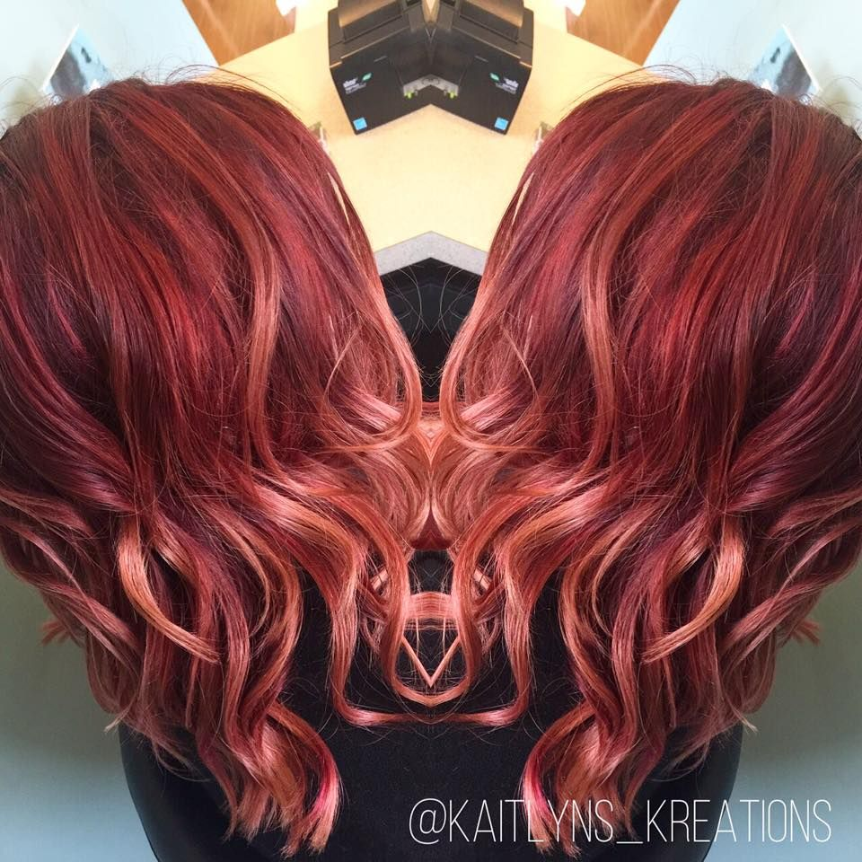 Fiery red ombre balayage by kaitlyn at radura salon and spa in fiery red ombre balayage by kaitlyn at radura salon and spa in manchester nh pmusecretfo Image collections