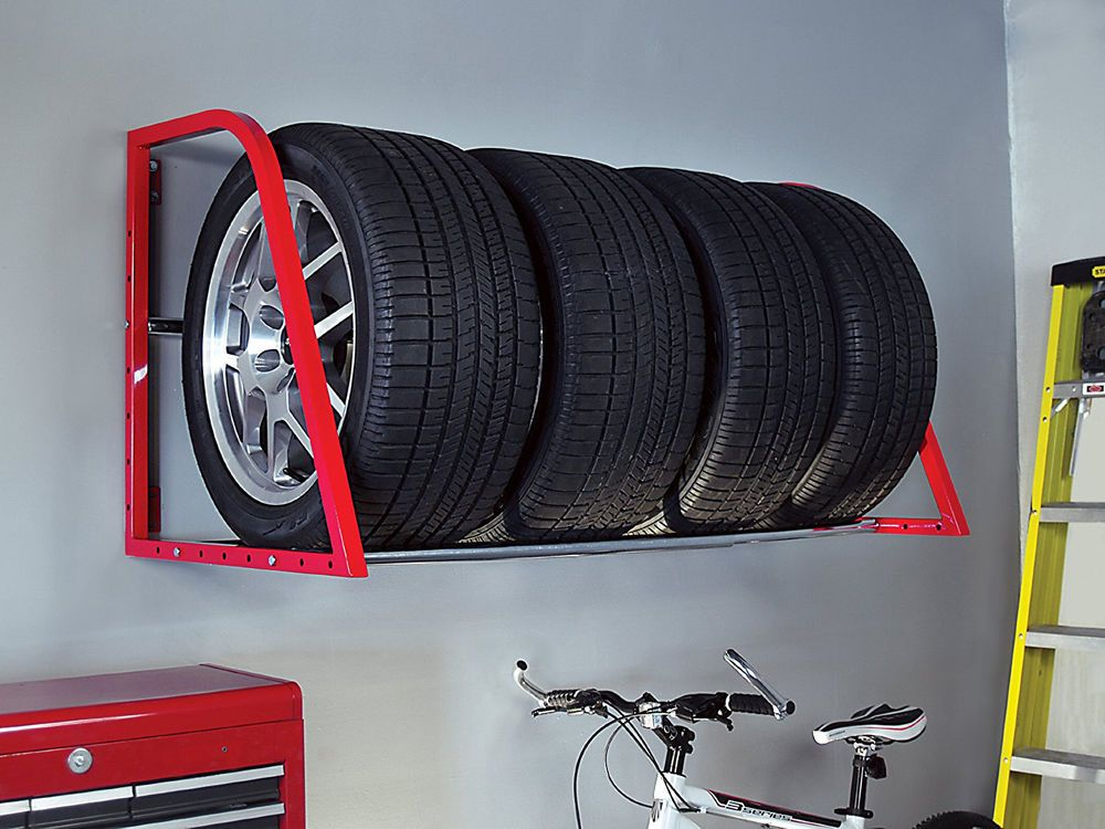 Tire Wheel Rack Storage Holder Heavy Duty Garage Wall Mount