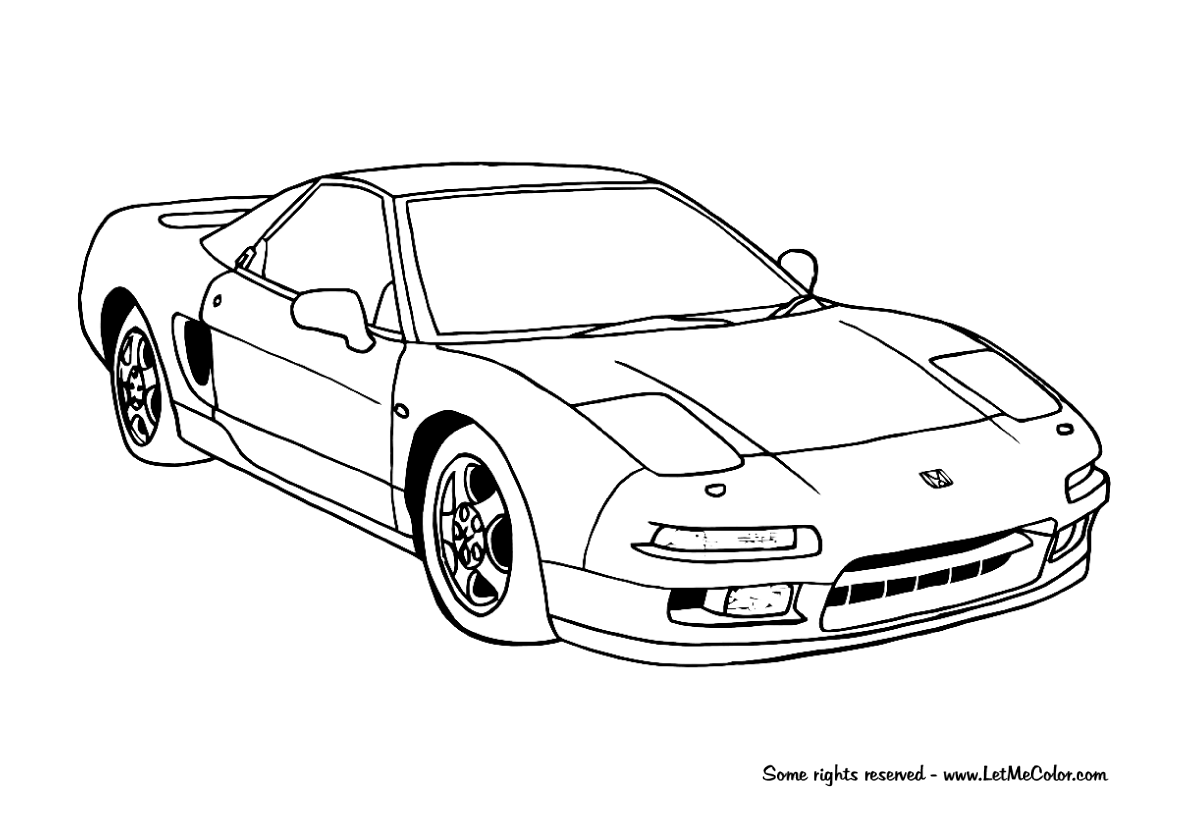 Coloring Pages Honda Cars : Coloring supercars letmecolor