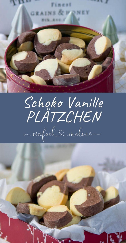 Zartes Buttergebäck - Schoko-Vanille Plätzchen. Ein wunderbar einfaches Rezept für leckere Schoko-Vanille Plätzchen. Ein Klassiker in der Weihnachtszeit, perfekt für jedes Alter und gut vorbereiten. #weihnachtskuchenrezepte