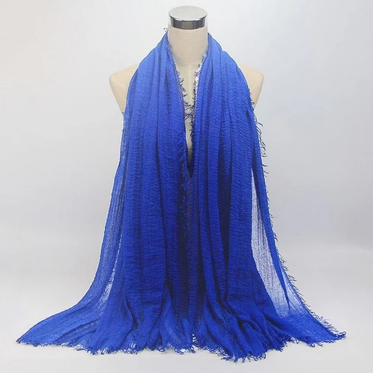 Women Hijab Islamic Crinkle Scarf Cotton Headscarf Muslim Scarves Shawls Wraps