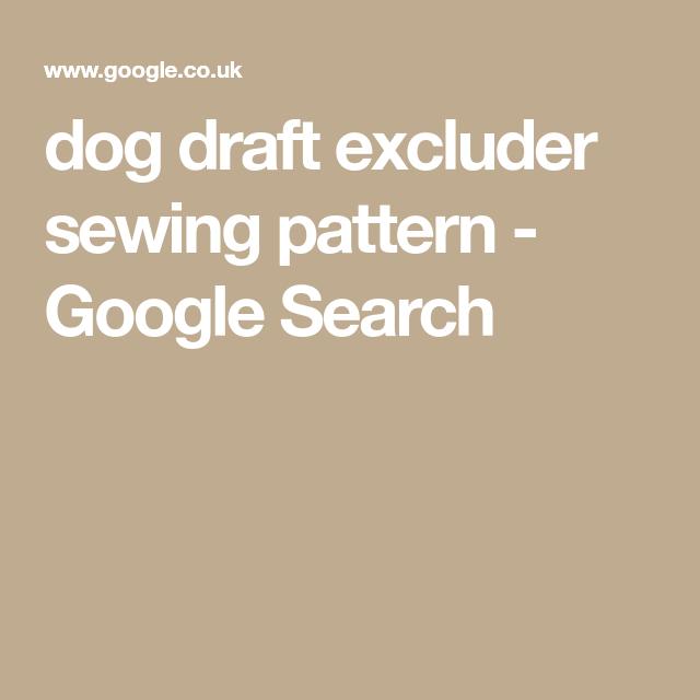 dog draft excluder sewing pattern - Google Search | Sausage dog ...