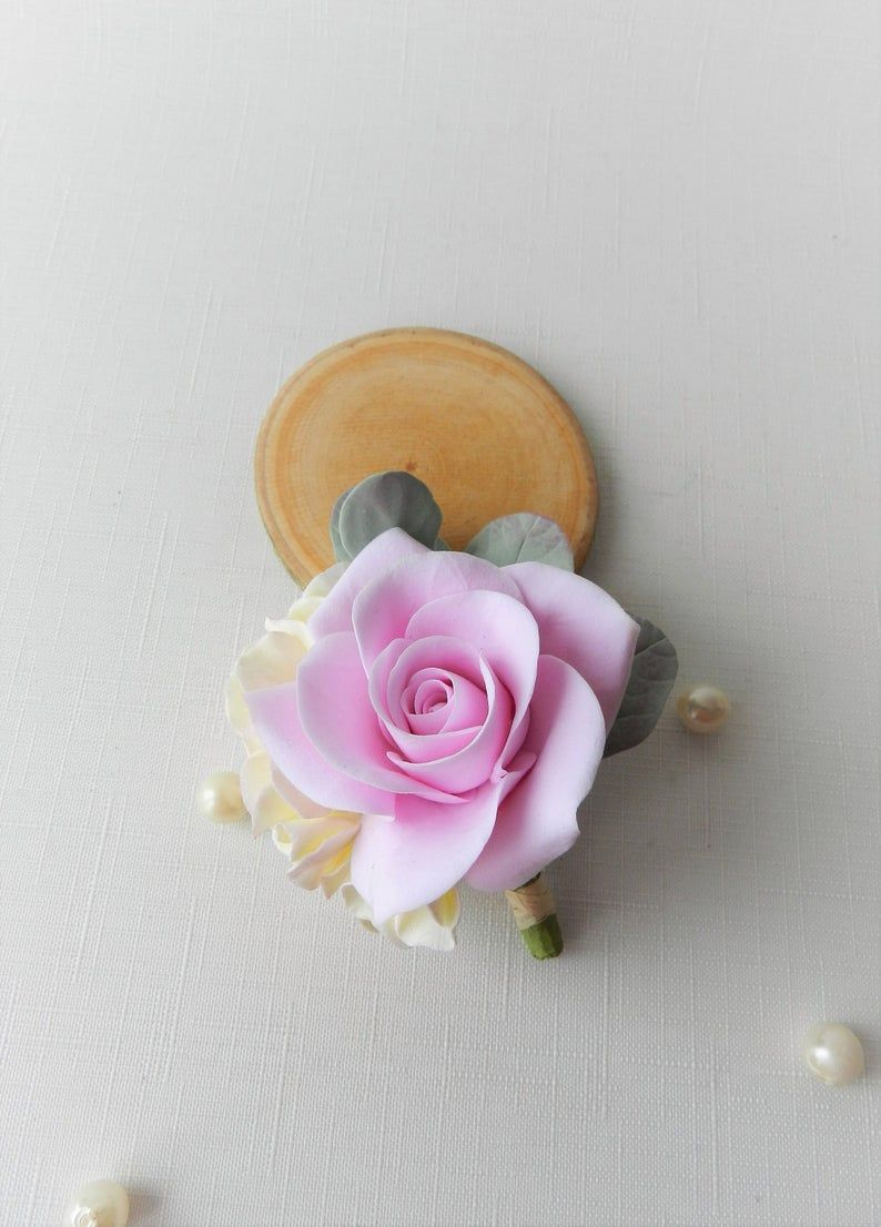 Rose Lapel Pins Polymer Clay