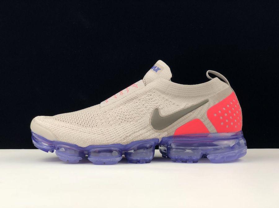 5b0abbbda4 Nike Air VaporMax 2018 Moc 2+ Flyknit Grey Red Women Men Shoes ...