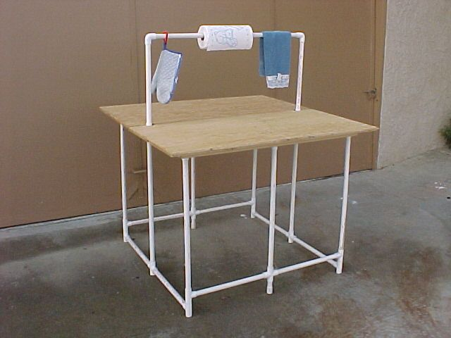 This Diy Pvc Portable Camping Table Would Be A Great Craft