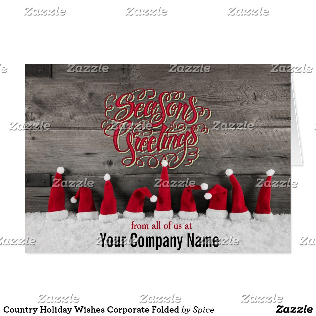 Country holiday wishes corporate folded card party invitations country holiday wishes corporate folded card kristyandbryce Image collections
