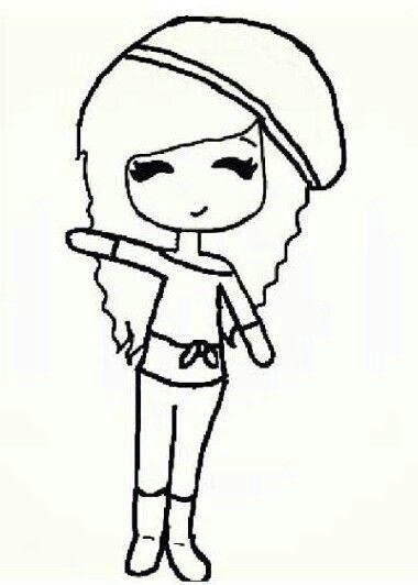 Chibi Template Cartoon Girl Drawing Cute Drawings Best Friend