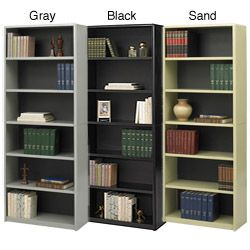 Safco Value Mate Steel 6 Shelf Bookcase 80 Inch Tall 160 Each