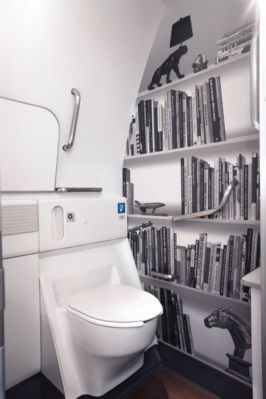 Handicap Bathroom Airplane airplane) 777-300er: relax with a good book. jeez that's funny