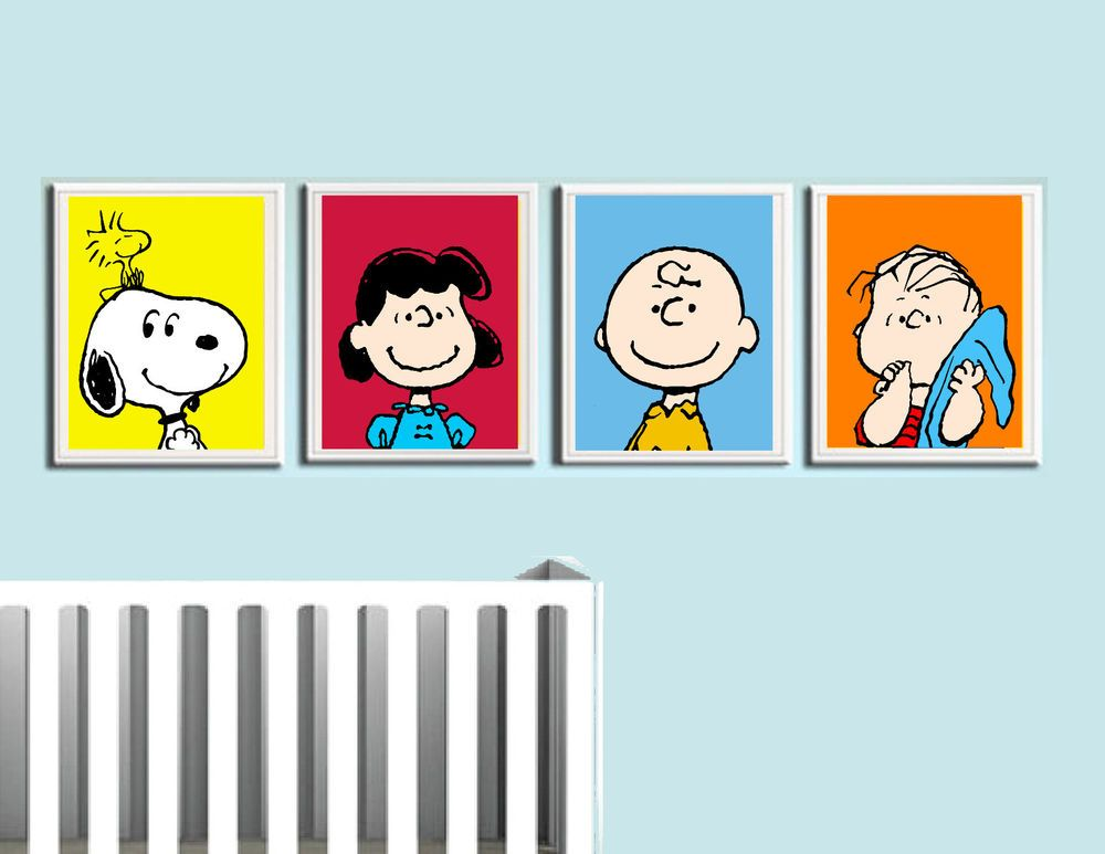 Charlie Brown Nursery Wall Art Peanuts Gang Snoopy Lucy Linus Brown Nursery Snoopy Nursery Peanuts Nursery