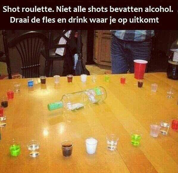 Drink roulette - hoeft niet met alcohol