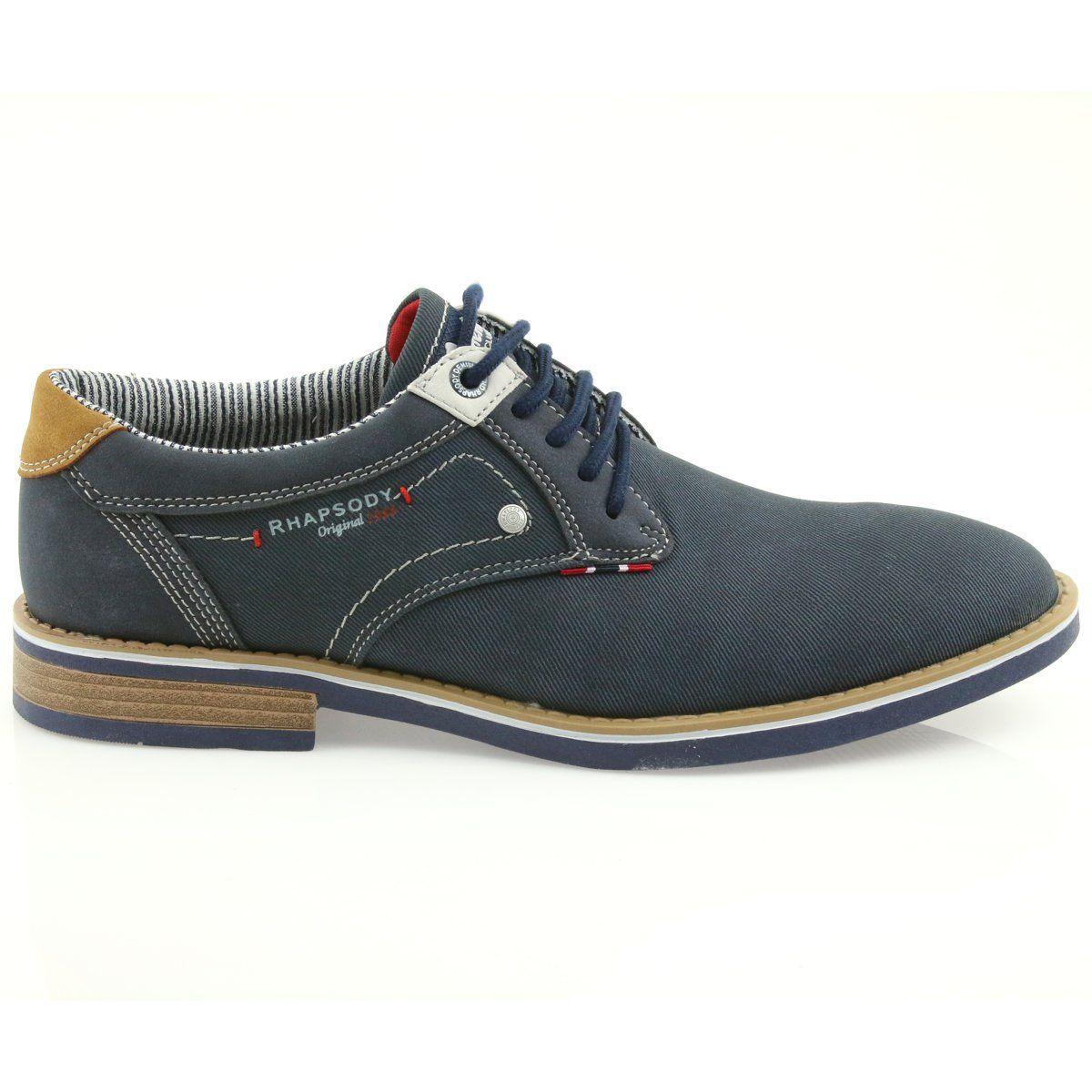 American Club Polbuty Buty Meskie Wiazane Rhapsody Rh08 Brazowe Granatowe Shoes Business Casual Attire For Men Men S Shoes