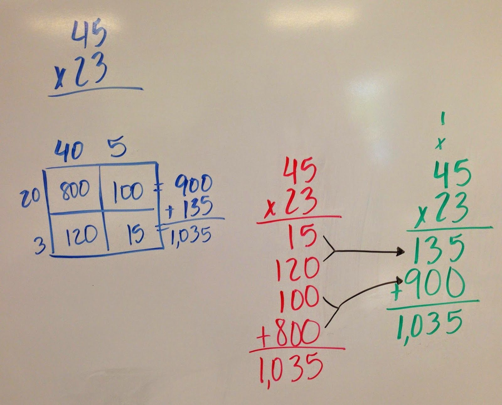Moving To The Standard Multiplication Algorithm