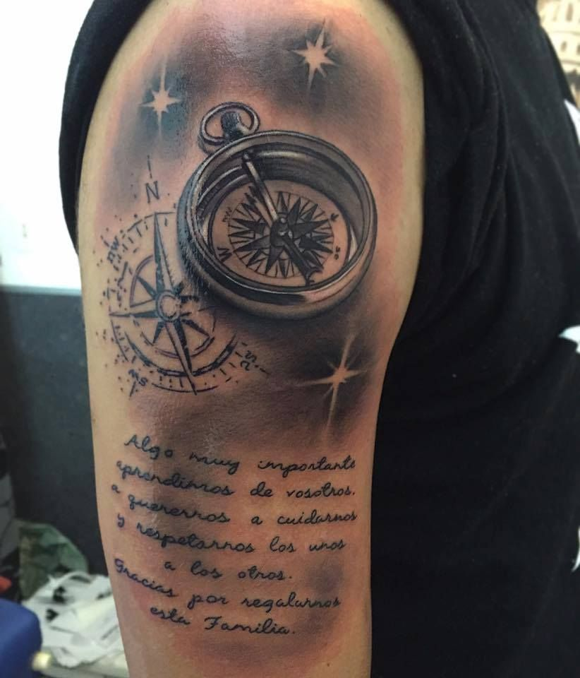 06c4c9475 Compass Tattoo by Christian at Holy Grail Tattoos | Christian @ Holy ...