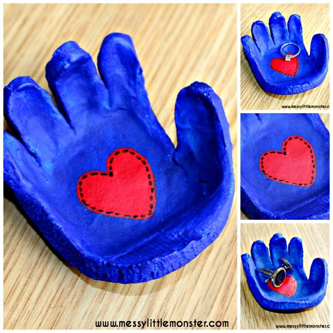 Salt Dough Handprint Bowl – A salt dough craft idea