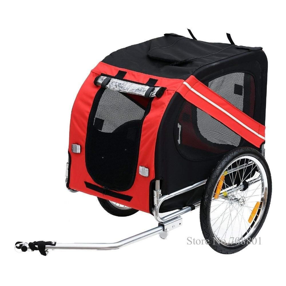 20inch Inflatable Wheel Pet Trailer Aluminum Frame Bicycle Trailer Dog Carrier Large Bike Trailer For Dog In 2020 Dog Bike Trailer Biking With Dog Child Bike Trailer