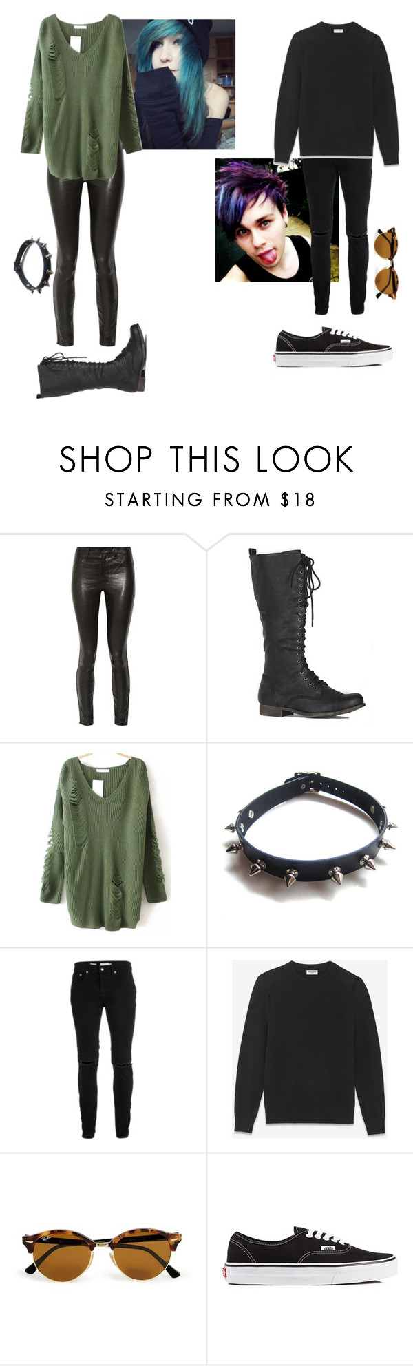 """The Campbell Siblings (pt 1)"" by depressed-music-lover ❤ liked on Polyvore featuring J Brand, WithChic, Topman, Yves Saint Laurent and Vans"