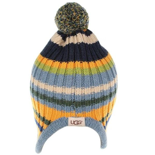 Ugg Kids Blue Multistripe Hat & Scarf Box Set ($71) ❤ liked on Polyvore