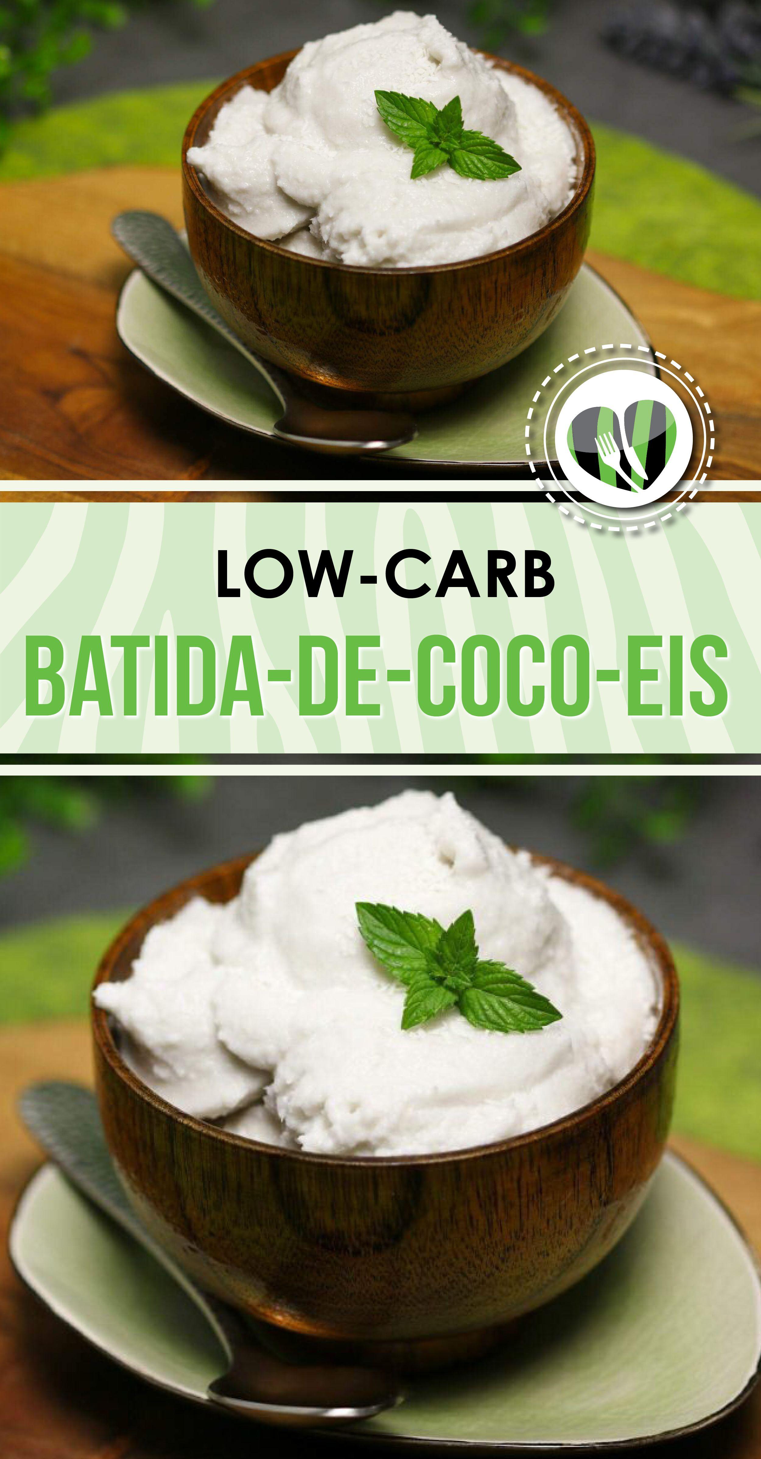 Batida-de-Coco-Eis isr Low Carb, glutenfrei, zuckerfrei und sogar vegan. Dazu schmeckt das Cocktail-Eis richtig lecker! #lowcarbveggies