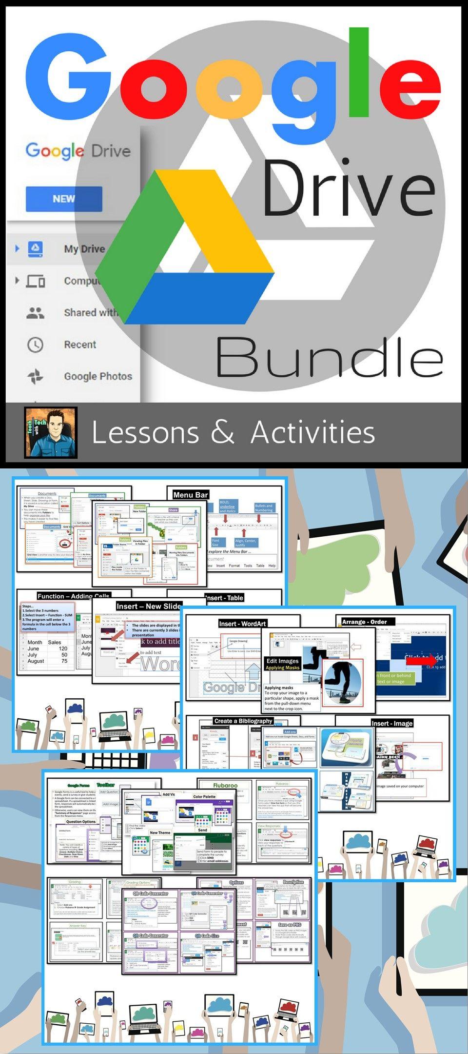 Google Drive Lessons & Activities Bundle Google drive