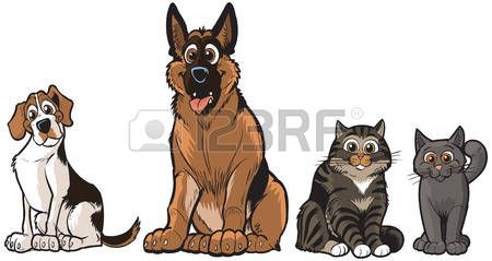 Pictures Of Cartoon Dogs And Cats