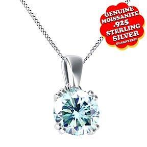 """1.00 Ct Round Cut Diamond Solitaire Pendant W//18/"""" Chain 14k White Gold Over"""