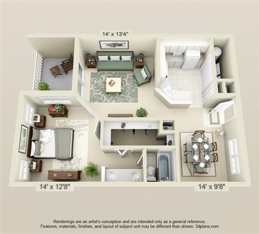 Hunter Ridge Apartment Homes: Northwest Gainesville Apartment Floor Plans