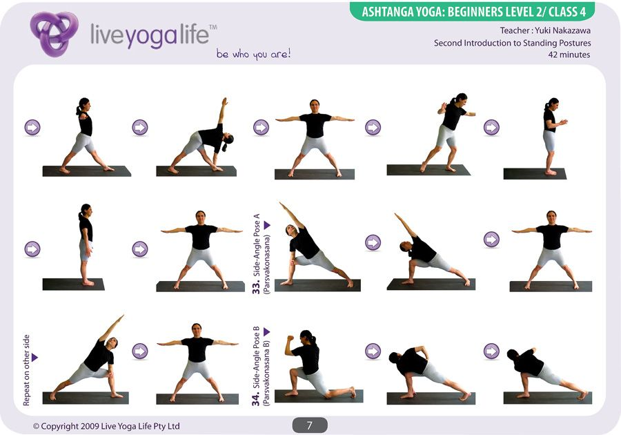 Ashtanga Yoga Beginners Complete Set Classes 1 To 7