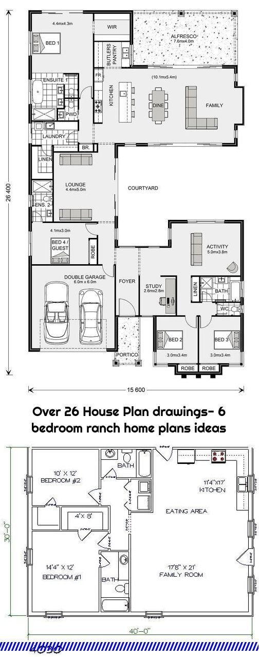 Over 26 House Plan Drawings 6 Bedroom Ranch Home Plans Ideas In 2020 House Plans Ranch House Ranch House Plans