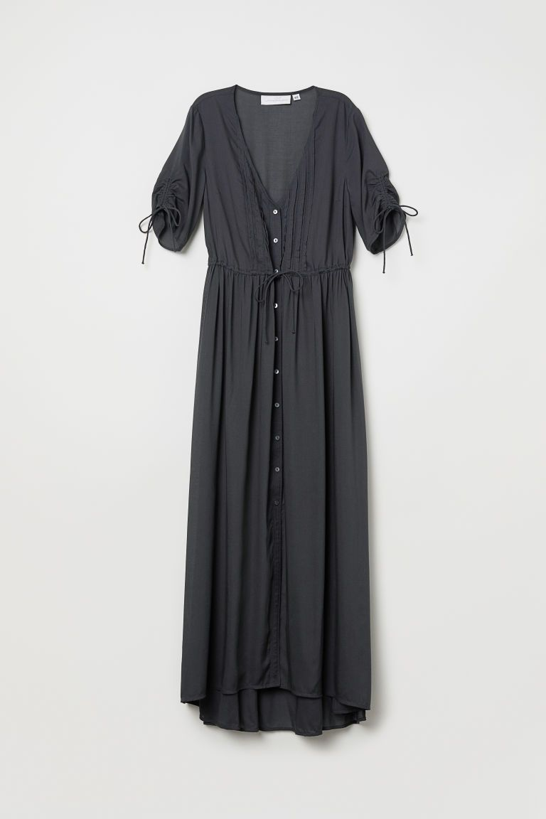 e556543ca97f10 Maxi-jurk van modal - Donkergrijs - DAMES