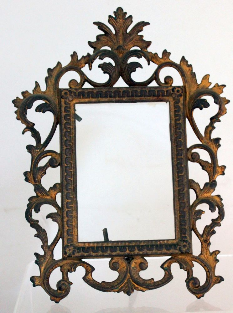 Antique Victorian Rococo Gilt Cast Iron Picture Frame Easel Back ...