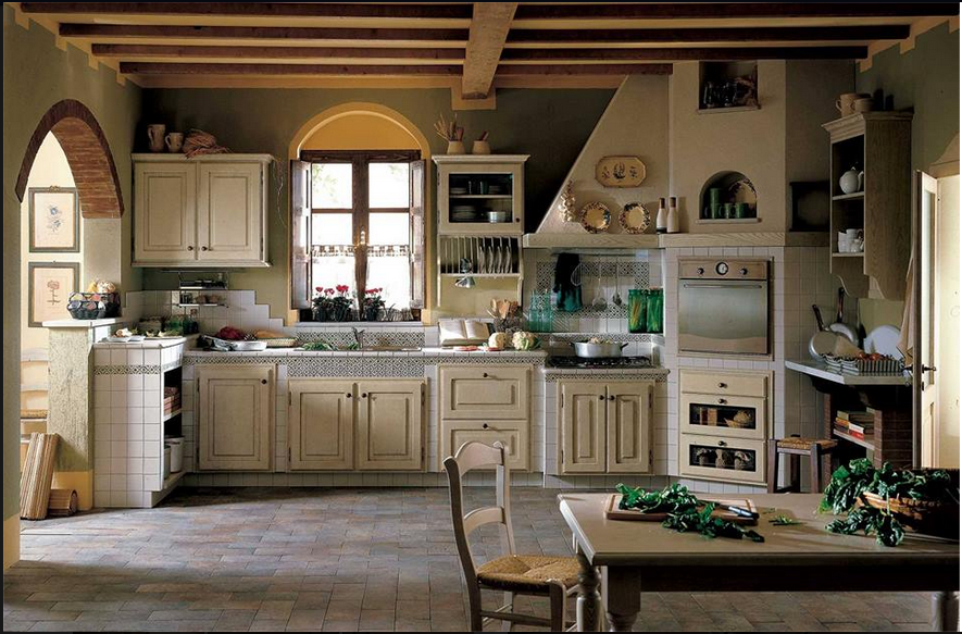 Cucina legno naturale rustica arredamento shabby for Arredamento cucina country