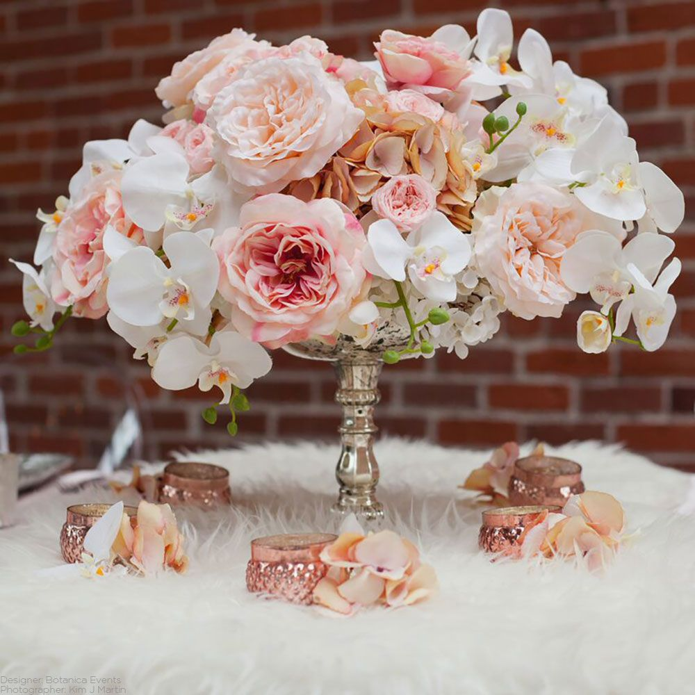 Soft Touch Silk Flower Sophia Open Rose In Smoked Pink 26 Glam