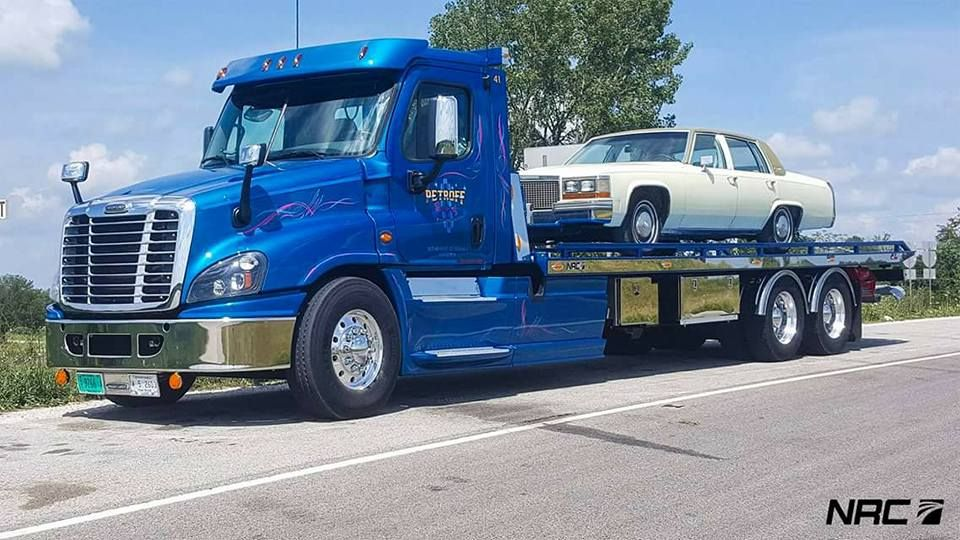 Freightliner Plataforma Tow Usa Freightliner Flatbed Towing Flatbed Trailer