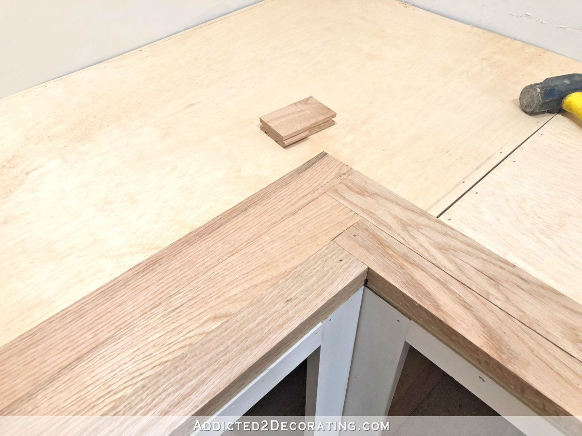 Diy Butcherblock Style Countertop Made From Red Oak Solid Hardwood