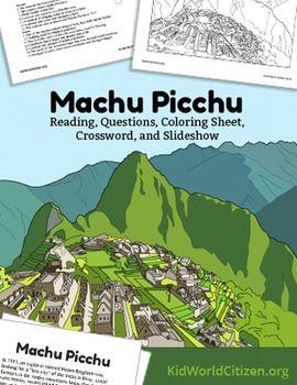 Machu Picchu Lesson Teach About The Incas In Peru Reading