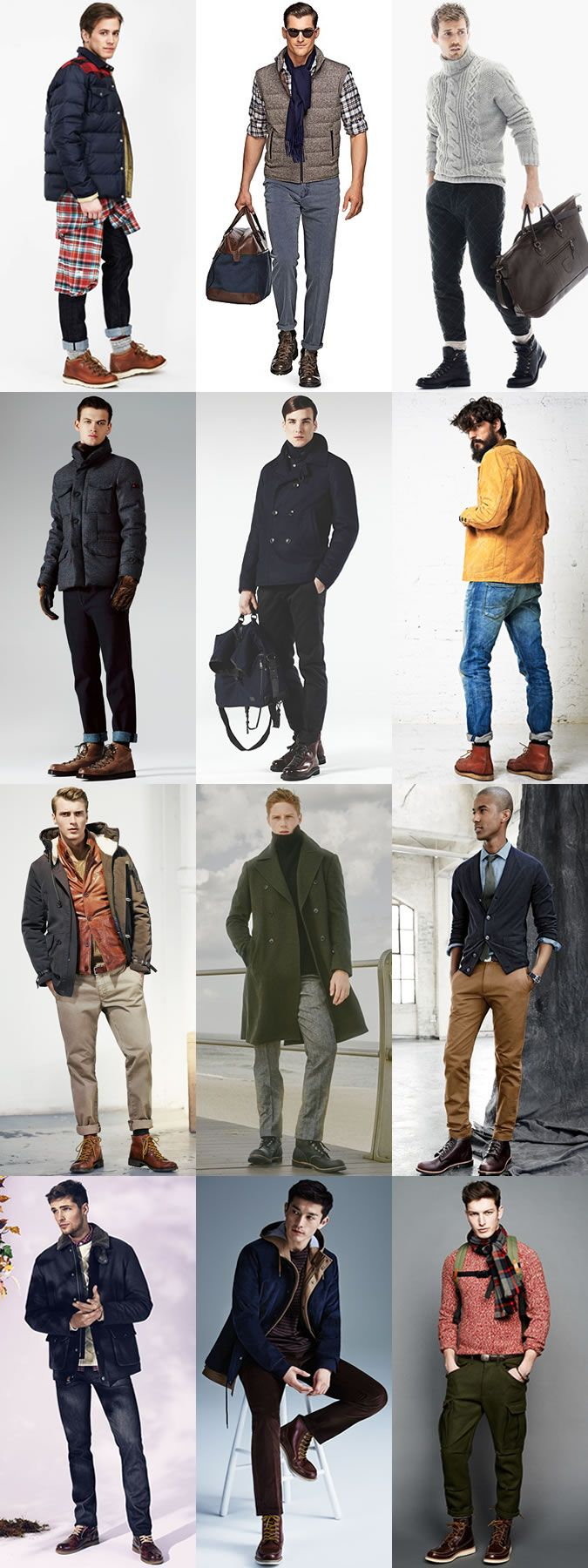 Men s Footwear Styles For Autumn Winter 2015  Hiking Boots Outfit  Inspiration Lookbook 5c9cba61d1