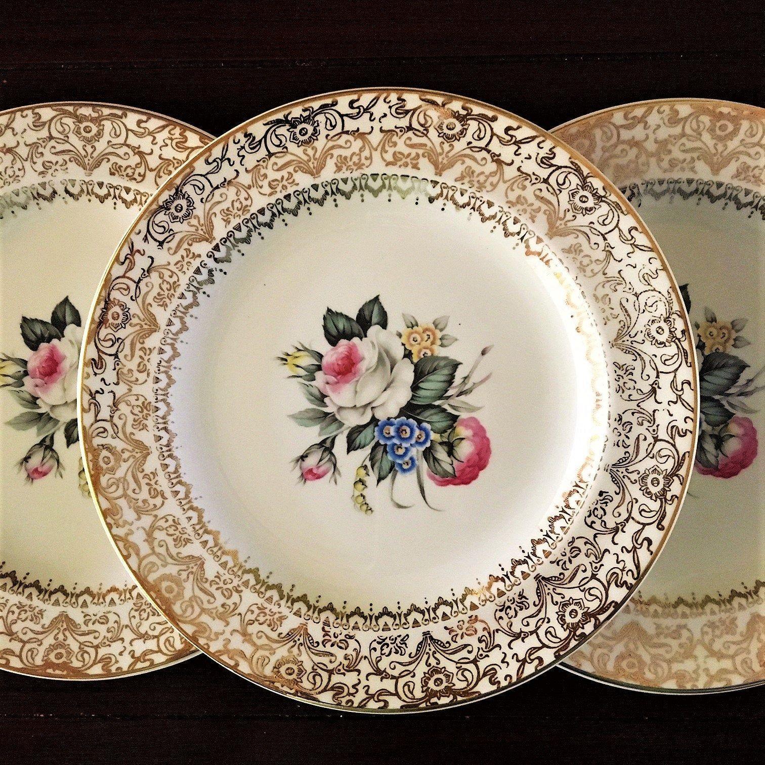 Dessertcake plate set 5 piece century by salem 23k