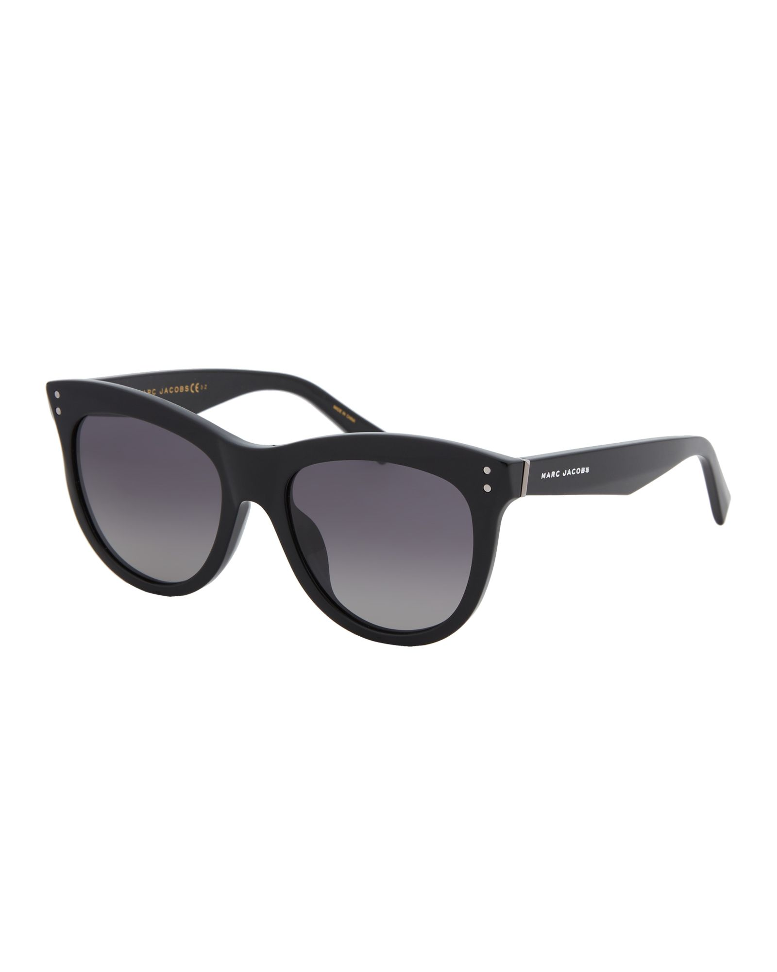 6cc13d025355 Marc Jacobs MARC 118/S Black Polarized Round Wayfarer Sunglasses ...