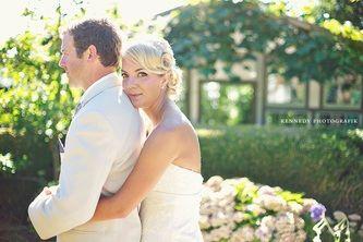 Amy & Mike Afterglow hair lounge|Kennedy Photografik #powellriver #weddings #blonde #weddingstyles #updos