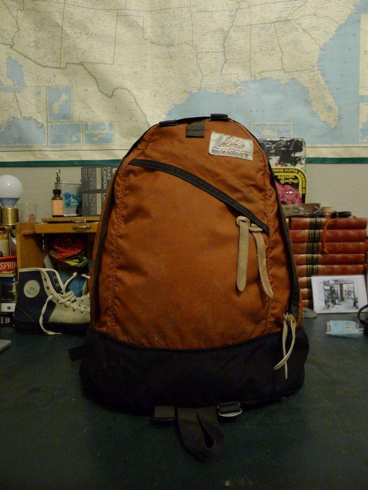 93789d53c52 Vintage Brown Label Gregory Day Pack Backpack - Rust Orange #Gregory  #Gregorypacks #vintagebackpacking