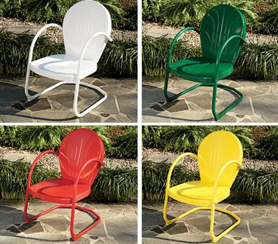 New Vintage Retro Metal Lawn Furniture Chair And By Scottshirey 159 00