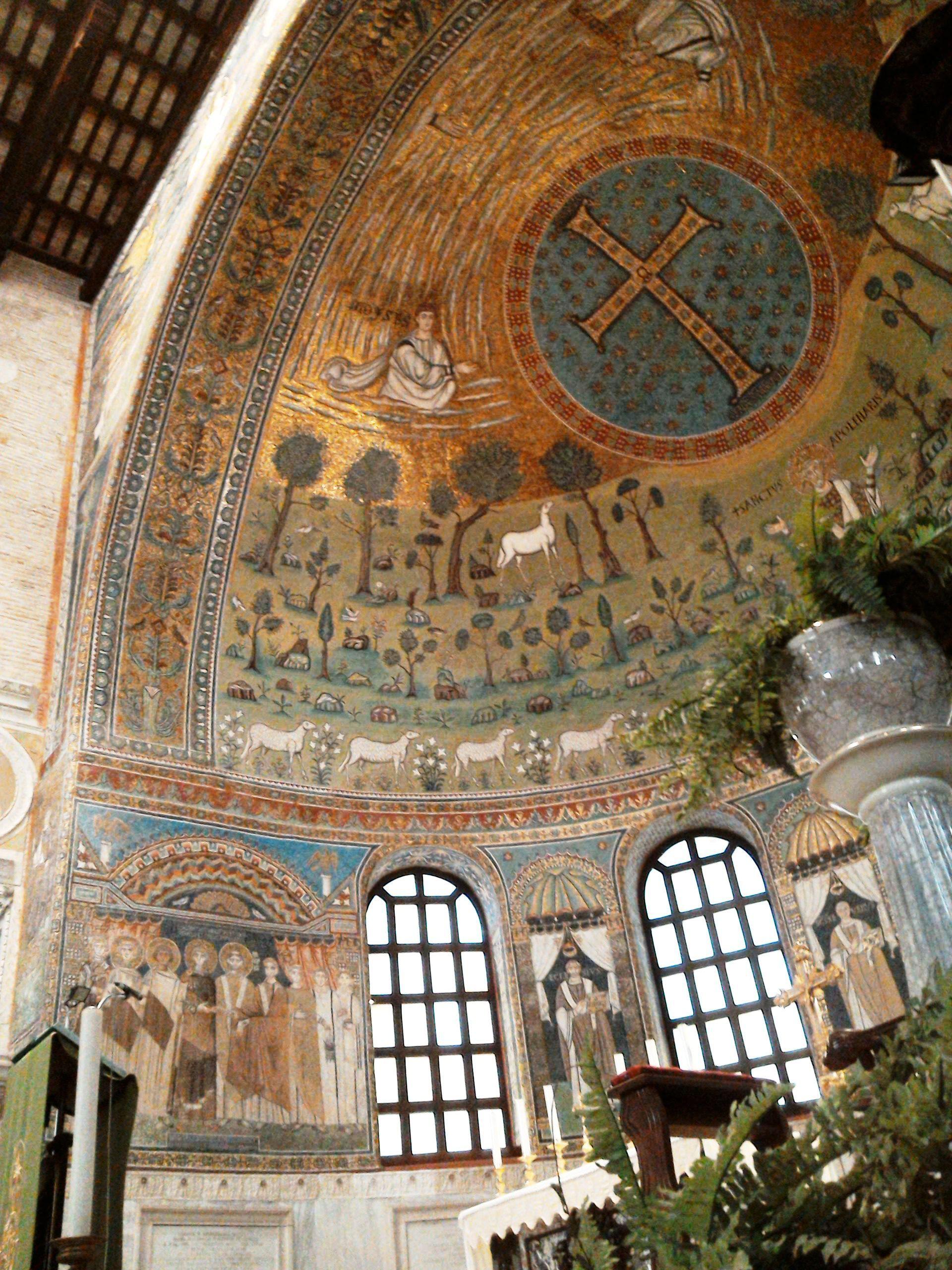 Emperor Constantine Iv Under Vaulted Mosaic